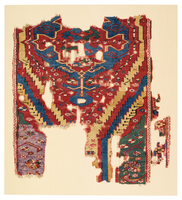 Medallion Rug Fragment with Serrated Bands