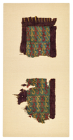 Two Saka Tapestry Fragments with Dragon Figures