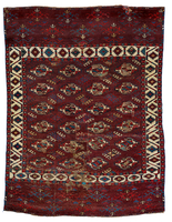 Yomut Main Carpet Fragment